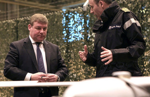 Mark Francois speaks to Royal Navy Commander Bow Wheaton about his experience of the Scan Eagle unmanned aerial system