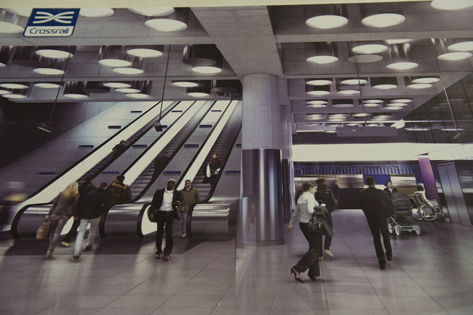 Artists impression of crossrail station