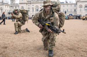 Reserves from the Honourable Artillery Company at a recruitment event on Horse Guards Parade in London (library image) [Picture: Sergeant Adrian Harlen, Crown copyright]
