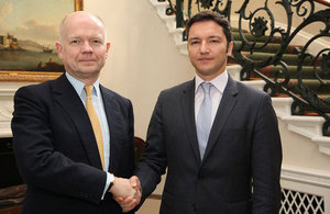 Foreign Secretary William Hague meeting Kristian Vigenin, Bulgarian Minister of Foreign Affairs in London,