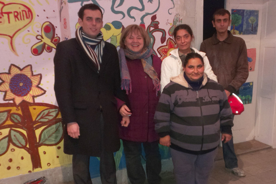 Ben Luckock, Head of the Policy Team visited the Roma community of Told
