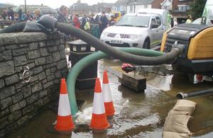 Lymington flood