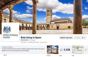 "Follow ""Brits living in Spain"" on Facebook"
