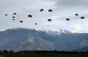 British and French paratroopers training in Corsica [Picture: Corporal Andy Reddy RLC, Crown copyright]