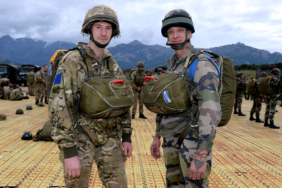 British and French paratroopers
