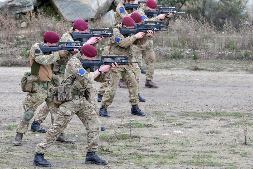 Members of 2nd Battalion The Parachute Regiment