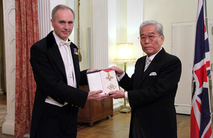 Mr Hisashi Hieda honoured by The Queen