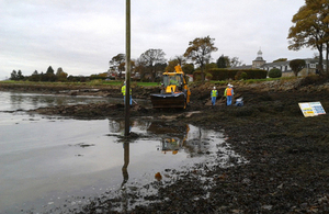 Contractors at work in Dalgety Bay [Picture: Crown copyright]