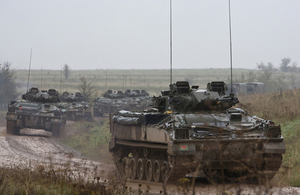 Warrior armoured fighting vehicles on Salisbury Plain (library image) [Picture: Petty Officer Airman (Photographer) Terry Seward, Crown copyright]