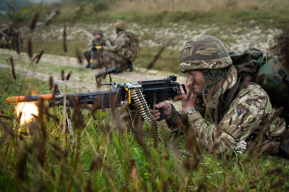 Soldiers on an exercise
