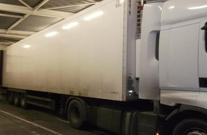 Refrigerated lorry stopped by Border Force