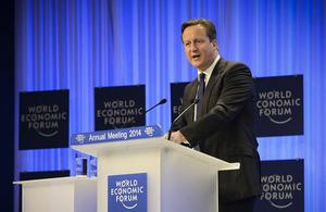 Discours du Premier ministre David Cameron lors du Forum Economique Mondial de Davos