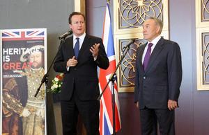 Prime Minister David Cameron and President Nazarbayev
