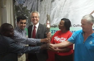 Queen's Baton arrives in Zambia