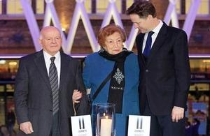 Nick Clegg attends Holocaust Memorial Day event