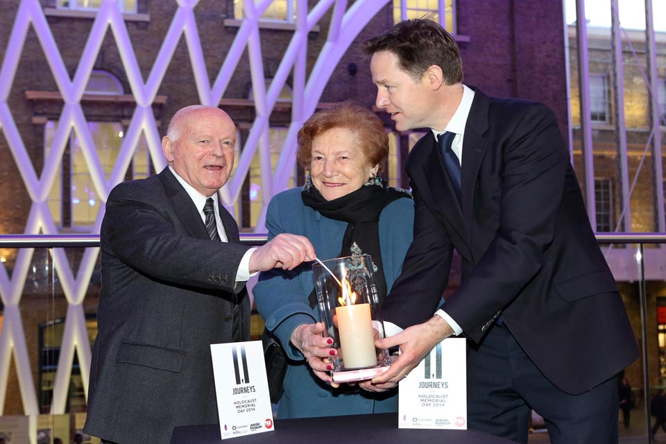 Nick Clegg attends Holocaust Memorial Day event