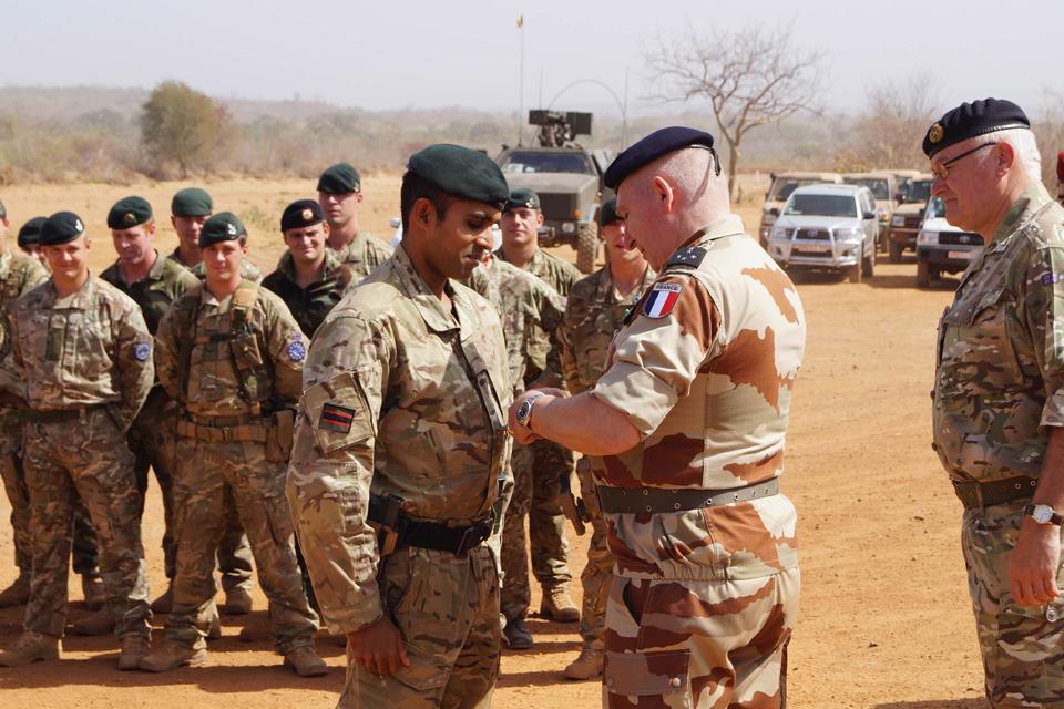 Rifleman Gigar Das receives his lance corporal's stripe