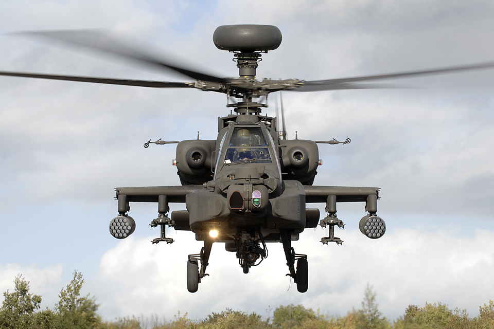 An Army Air Corps Apache attack helicopter