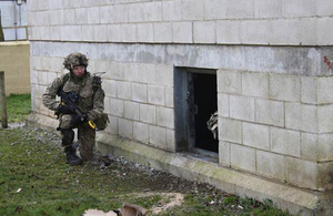 Soldiers taking part in Exercise Badgers' Hole on Salisbury Plain [Picture: Crown copyright]
