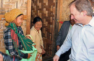Foreign Office Minister Hugo Swire visiting Kachin State