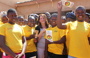 Lynne Featherstone in Burkina Faso. Picture: Lindsay Mgbor/DFID