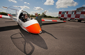 An air cadet is given a final briefing on flying the Viking glider (library image) [Picture: Squadron Leader Philip Jones, Crown copyright]