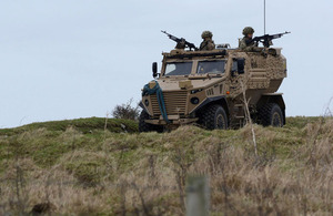 Soldiers carry out a mounted patrol in a Foxhound armoured vehicle [Picture: Corporal Barry Lloyd, Crown copyright]