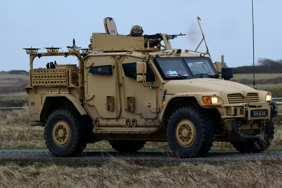 A Husky armoured vehicle