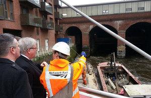Patrick Mcloughlin at the Leeds southern access