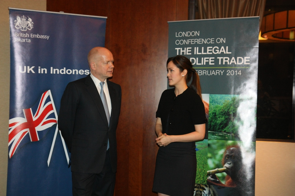 Illegal Wildlife Trade discussion with Indonesian celebrity/activist Cathy Sharon