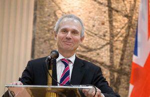 David Lidington during his visit to Montenegro (2014)