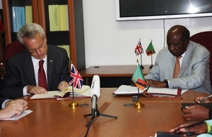 British High Commissioner and Acting President and Finance Minister sign Double Taxation Agreement