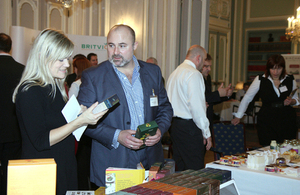 Visitors to a UKTI trade event in the British Embassy Residence, Vienna