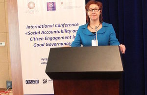 UK expert speaks at international conference on good governance in Kyrgyzstan
