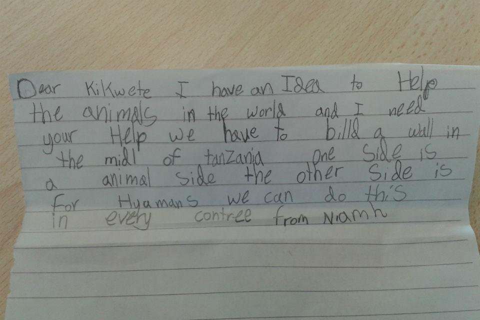 Letter to President Kikwete