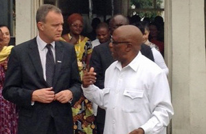 Mark Simmonds on visit in DRC