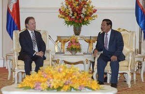 Minister Swire met with Cambodian Prime Minister Hun Sen