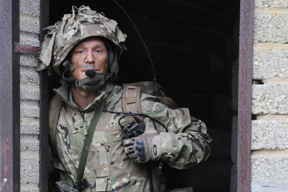 A soldier on exercise