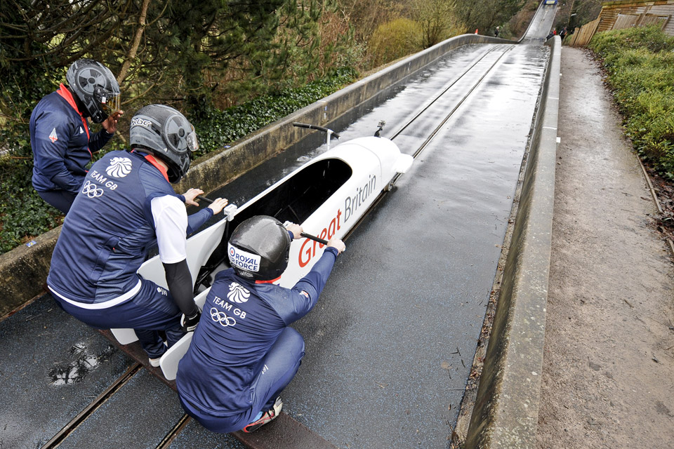 Team GB 4-man bobsleigh squad