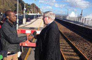 Patrick McLoughlin in Dawlish