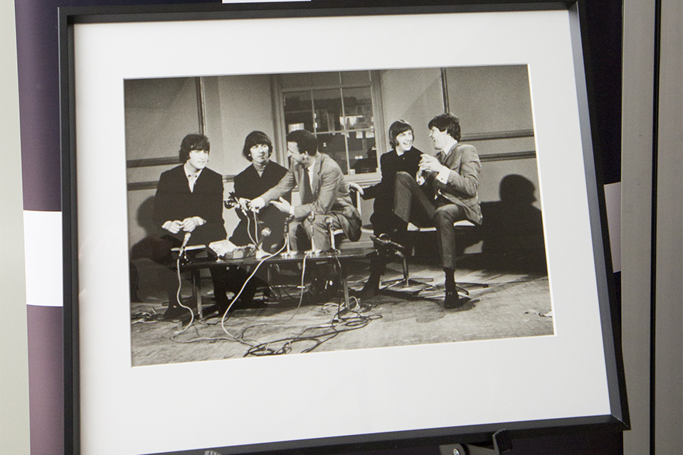 The other donated portrait is of The Beatles at a press conference after the announcement of their MBEs in 1965.