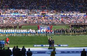 Italy vs Scotland rugby match