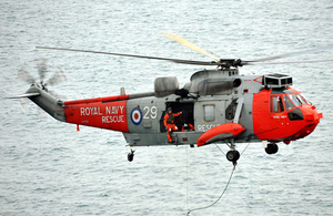 A 771 Naval Air Squadron Royal Navy search and rescue helicopter from Culdrose (library image) [Picture: Petty Officer Airman (Photographer) Paul A'Barrow, Crown copyright]