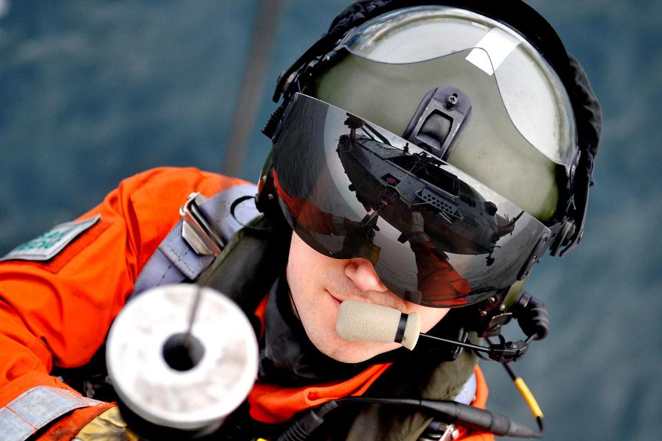A 771 Naval Air Squadron winchman