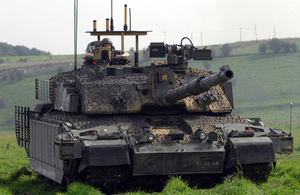 A Challenger 2 tank on Salisbury Plain (library image) [Picture: Sergeant Russ Nolan RLC, Crown copyright]