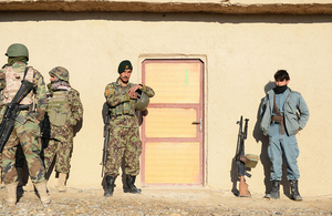 Afghan soldiers and policemen work together during a joint operation against insurgents (library image) [Picture: Corporal Ross Fernie, Crown copyright]