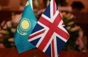 Uk and Kazakhstan flags