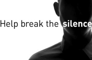 Help break the silence over male rape - campaign image