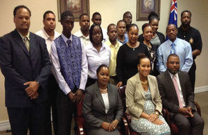 The new immigration officers met the Deputy Governor, Minister and Permanent Secretary today.