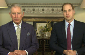 The Prince of Wales and The Duke of Cambridge
